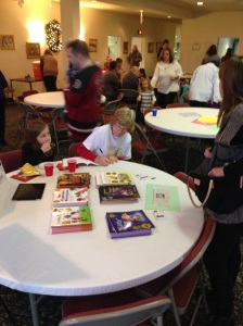 Book-signing at Lunch with Santa