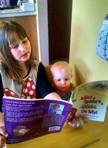 Addie reads to Cody...