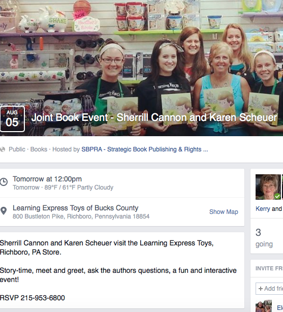Book Event at Learning Express, Richboro PA - Sherrill S. Cannon and Karen Scheuer