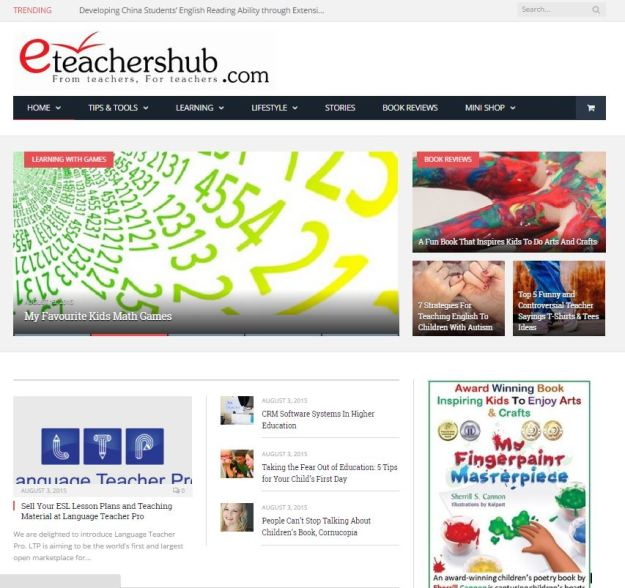 Nice mention by eTeachers Hub!