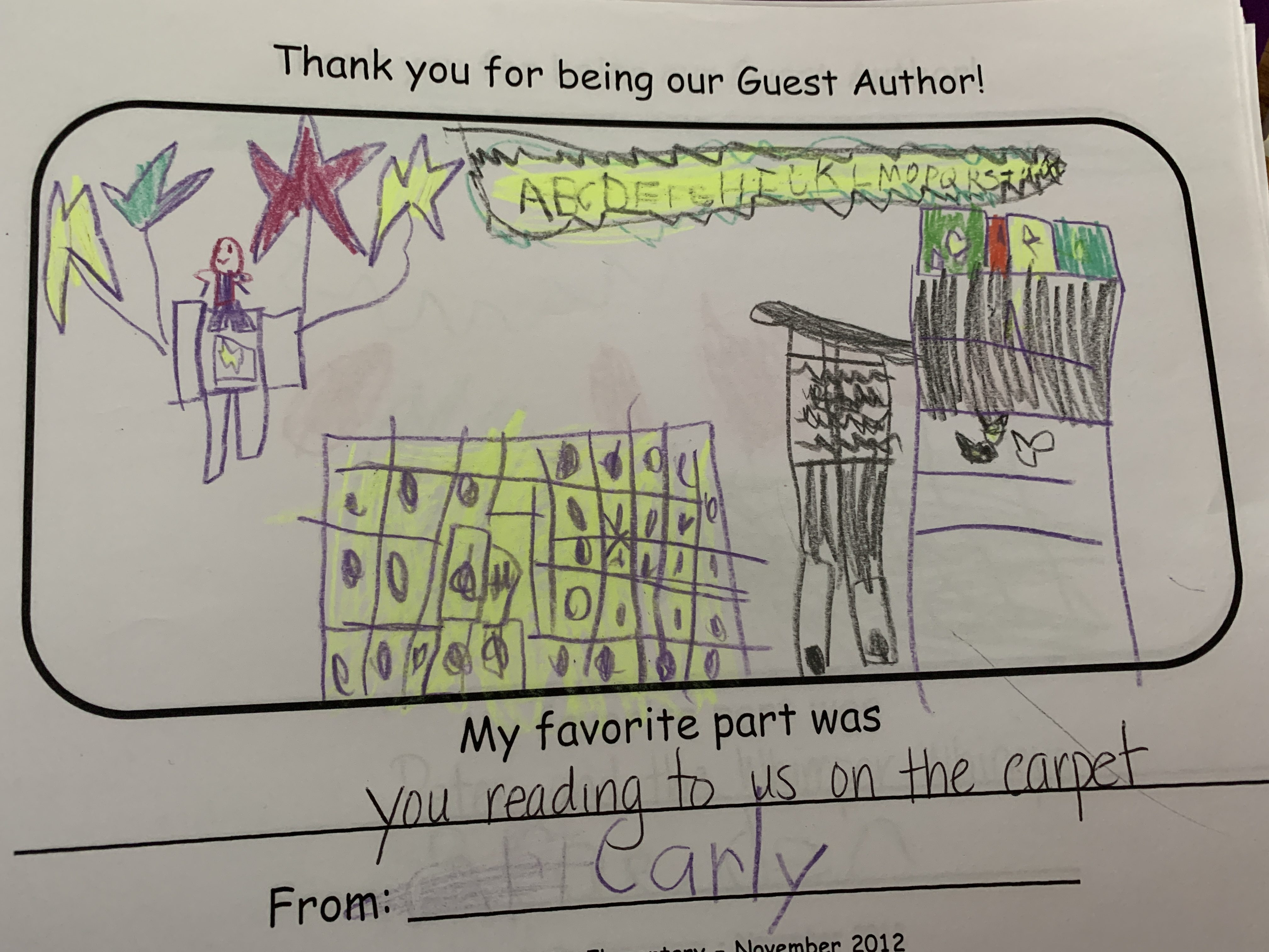 Kindergarten Reading 2012